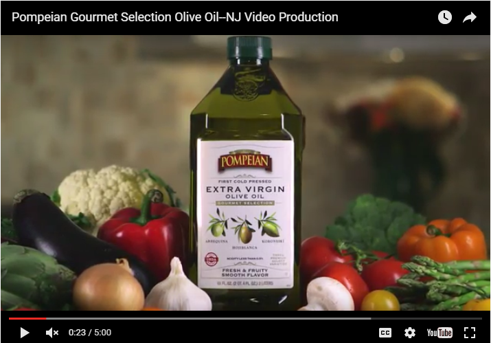 This is a point of sale video for Pompeian Gourmet Selection Olive Oil.